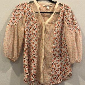 Lauren Conrad size XS floral shirt
